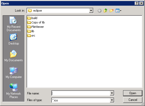 Set FilterExtensions for FileDialog