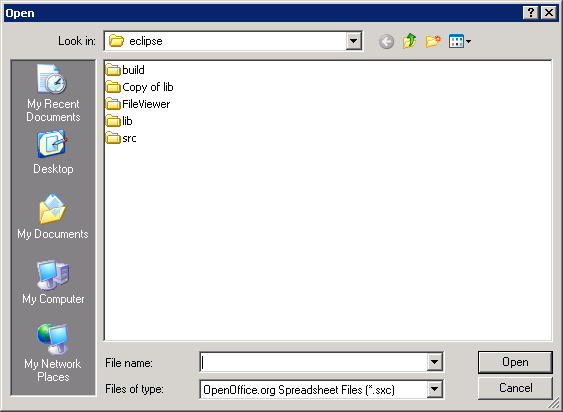 Open an Open FileDialog