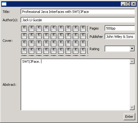 A Sample GUI Using GridLayouts