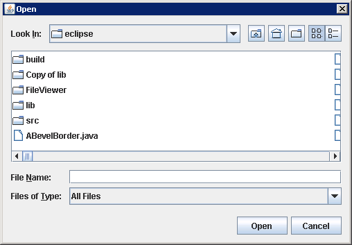 Adding an ActionListener to a JFileChooser to listen for selection of the approval or cancel actions.