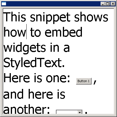 StyledText: embed controls