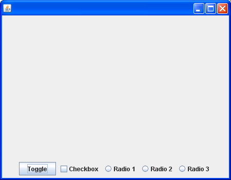 Toggle button with ItemListener