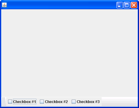 Toolbar with CheckBox