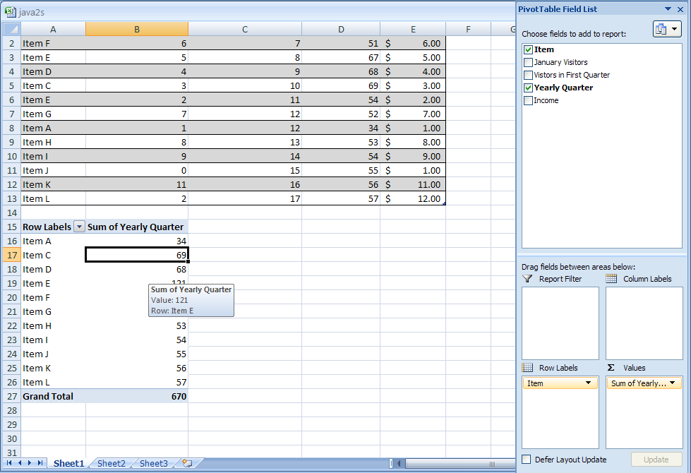 Add or Remove a Field in a PivotTable or PivotChart Report