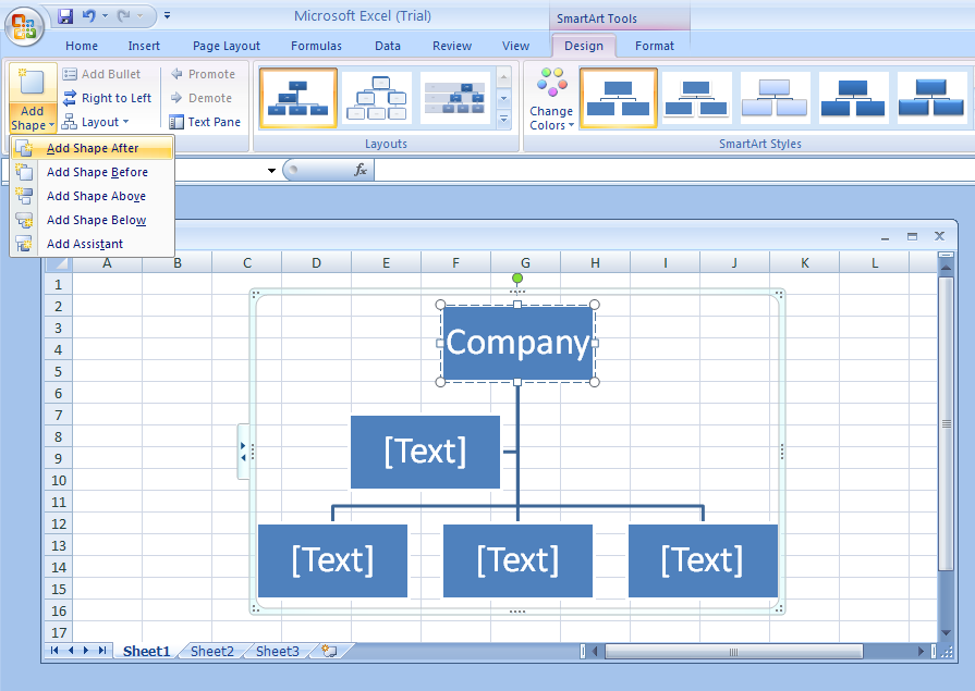 Add A Shape To An Organization Chart Organization Chart Wordart - Microsoft office org chart template