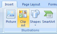 Click the Insert tab, and then click the Clip Art button.