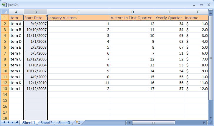 Adjust Column Width or Row Height Using the Mouse