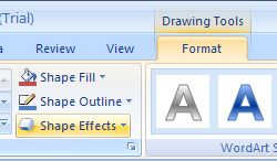 Apply an Effect to WordArt Text