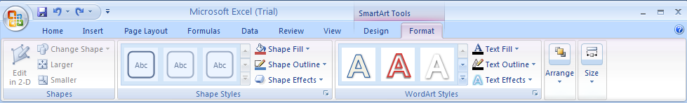 Apply a Shape Effect to a SmartArt Graphic