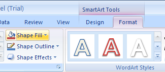 Apply a Shape Fill to a SmartArt Graphic