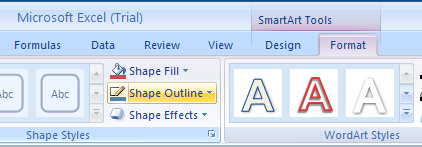 Apply a Shape Outline to a SmartArt Graphic