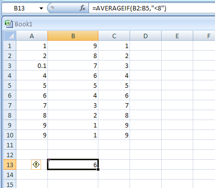 AVERAGEIF(range,criteria,average_range) returns the average of all the cells in a range that meet a given criteria