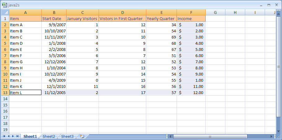 Calculate Totals with AutoSum for both across and down a table of number