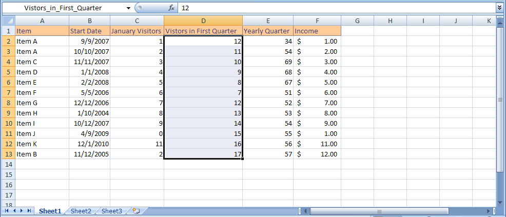 Calculate Totals with AutoSum for a range