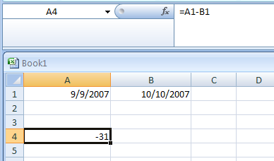 Calculating the Number of Days between Two Dates