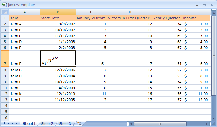 how to change date format in excel 2007