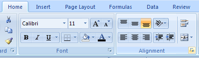 Change Alignment Using the Format Dialog Box