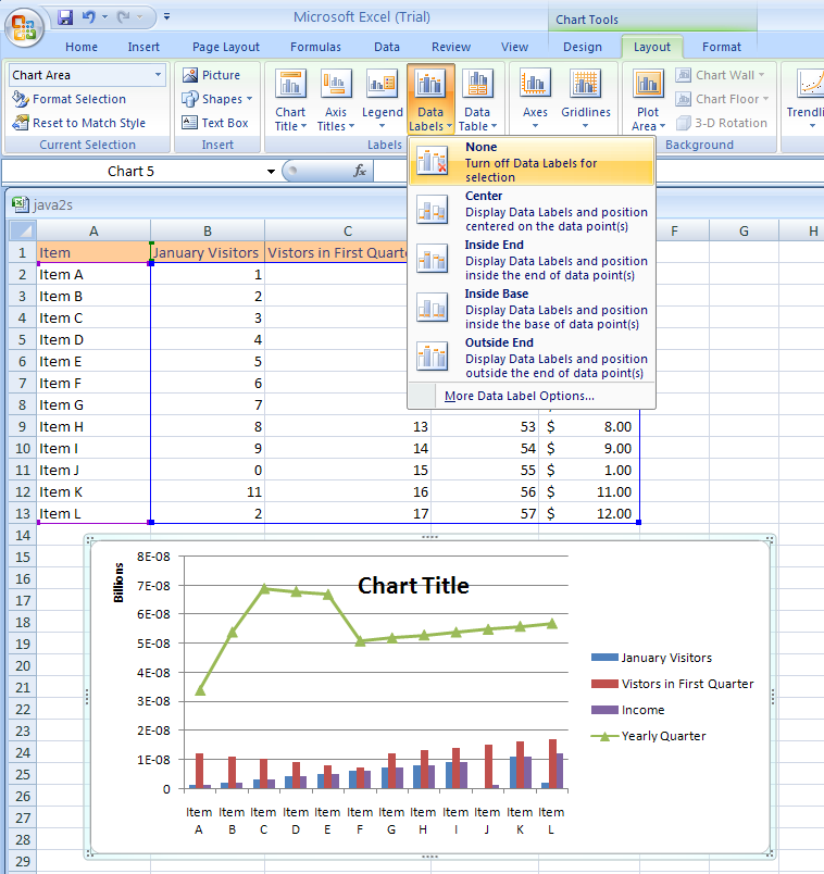 ... Labels : Chart Data « Chart « Microsoft Office Excel 2007 Tutorial