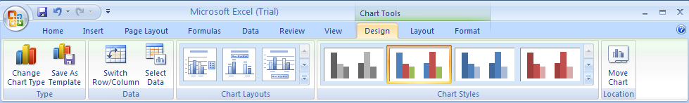 Change a Chart Type for an Entire Chart