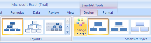 Change the colors of an organization chart