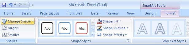 how to change shape to a diamond in excel