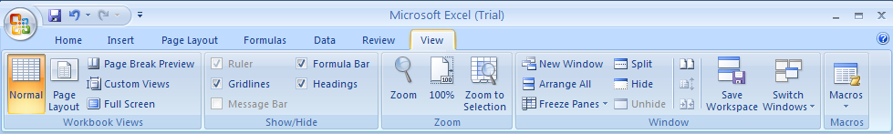 Click the View tab. Click Zoom to display the Zoom dialog box