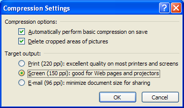 Click the Print, Screen, or E-mail option to select a target output.