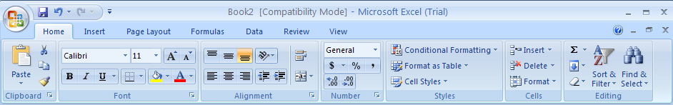 Convert a Excel 97-2003 Workbook to Excel 2007