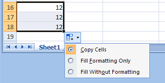 Copy a Formula Using AutoFill