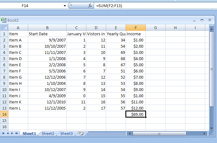 Create a One-Input Data Table