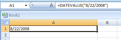DATEVALUE(date_text) converts a text to date