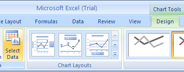 Click the chart. Click the Design tab under Chart Tools, and then click the Select Data button.