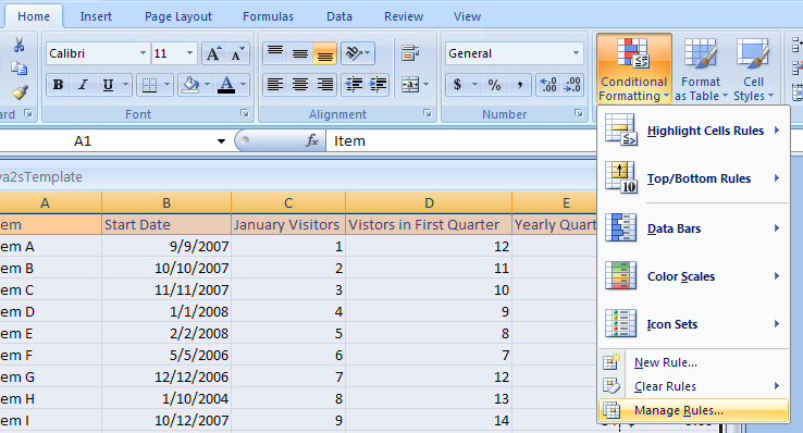 Edit Conditional Formatting Rule Precedence