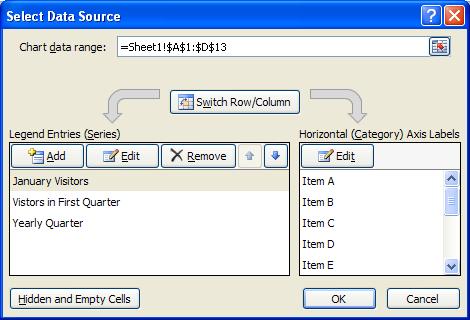 Edit The Data Source Chart Data 171 Chart 171 Microsoft