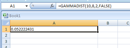 GAMMADIST returns the gamma distribution