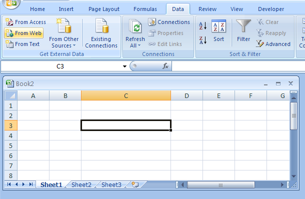 Get Data from a New Web Query