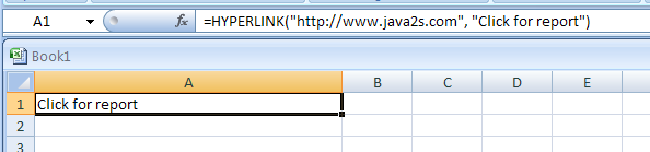 how to create hyperlink in excel within document