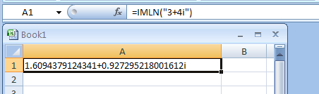IMLN returns the natural logarithm of a complex number