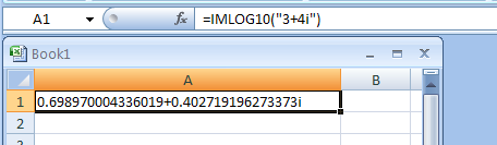 IMLOG10 returns the base-10 logarithm of a complex number