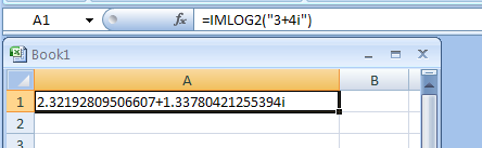 IMLOG2 returns the base-2 logarithm of a complex number