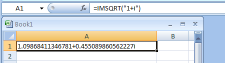 IMSQRT returns the square root of a complex number
