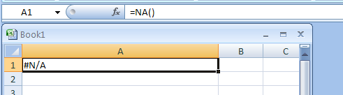 ISNA returns TRUE if the value is the #N/A error value