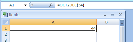 OCT2DEC converts an octal number to decimal