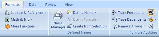 Print formulas