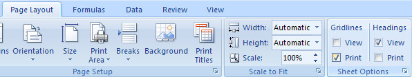 Click the Page Layout tab. Select the Print check box under Gridlines. Select the Print check box under Headings.
