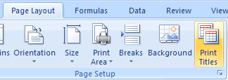 Print Row and Column Titles on Each Page