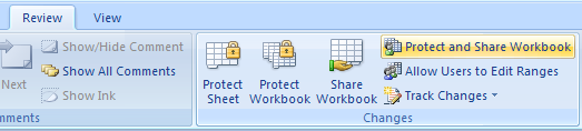 Protect a shared workbook