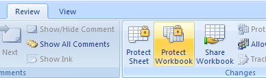 Protect workbook elements.