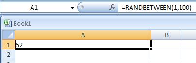 RANDBETWEEN(bottom,top) returns a random number between the numbers you specify