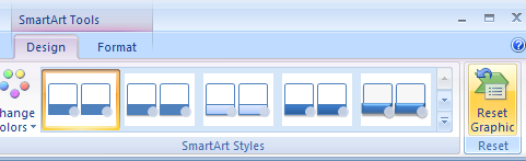 Reset a SmartArt graphic back to its original state